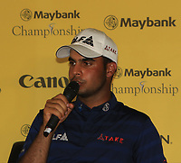 Shubhankar Sharma (IND) during an interview after winning of the Maybank Championship at the Saujana Golf and Country Club in Kuala Lumpur on Saturday 4th February 2018.<br /> Picture:  Thos Caffrey / www.golffile.ie<br /> <br /> All photo usage must carry mandatory copyright credit (&copy; Golffile | Thos Caffrey)