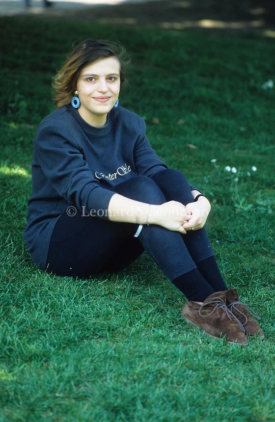 Lara Cardella , italian writer. Torino, 1996. © Leonardo Cendamo
