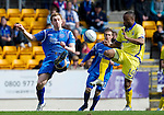 St Johnstone v Kilmarnock....02.04.11 .Liam Craig and David Silva.Picture by Graeme Hart..Copyright Perthshire Picture Agency.Tel: 01738 623350  Mobile: 07990 594431