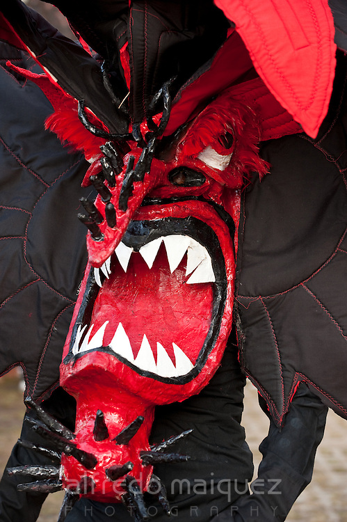 Devil Mask,Devil and Congos Festival,Portobelo Village,Colon Province,Panama,C.A,