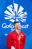 Picture by Alex Whitehead/SWpix.com - 09/04/2018 - Commonwealth Games - Swimming - Optus Aquatics Centre, Gold Coast, Australia - Adam Peaty of England after winning Silver in the Men's 50m Breaststroke final.