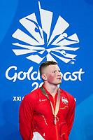 Picture by Alex Whitehead/SWpix.com - 09/04/2018 - Commonwealth Games - Swimming - Optus Aquatics Centre, Gold Coast, Australia - Adam Peaty of England after winning Silver in the Men's 50m Breaststroke final.