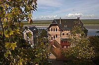 Europe/France/Picardie/80/Somme/Baie de Somme/ Saint-Valery-sur-Somme : détail villas du front de mer