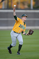 Siena Saints outfielder Taylor Ahearn (14) during warmups before the season opening game against the Central Florida Knights at Jay Bergman Field on February 14, 2014 in Orlando, Florida.  UCF defeated Siena 8-1.  (Mike Janes/Four Seam Images)