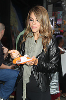 May 16, 2012 Maria Menounos celebrates her birthday outside at Good Morning America studios in New York City. Credit: RW/MediaPunch Inc.