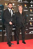 Jesus Carroza and Eduard Fernandez attends the Feroz Cinema Awards 2015 at Las Ventas, Madrid,  Spain. January 25, 2015.(ALTERPHOTOS/)Carlos Dafonte) /NortePhoto<br /> <br /> nortePhoto.com