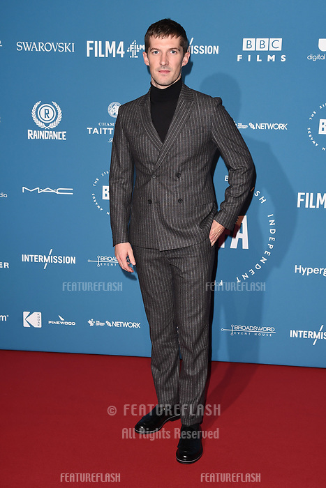 LONDON, UK. December 02, 2018: Gwilym Lee at the British Independent Film Awards 2018 at Old Billingsgate, London.<br /> Picture: Steve Vas/Featureflash