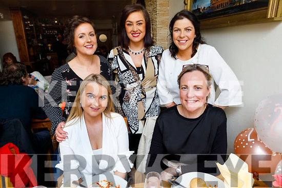 Niamh Costello from Listowel celebrating her 21st birthday in Bella Bia on Sunday.<br /> Seated l to r: Niamh Costello and Norma Doran. <br /> Back l to r: Irene Harnett, Ryanne Leahy and Catherine Nolan.
