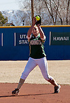 March 7, 2012:   Sacramento State Hornets second baseman Devin Caldwell fields the ball against the Nevada Wolf Pack during their NCAA softball game played at Christina M. Hixson Softball Park on Wednesday in Reno, Nevada.