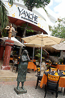 Yaxche Mayan restaurant in Playa del Carmen, Riviera Maya, Quintana Roo, Mexico...