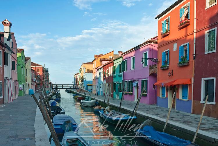 Europe, Italy, Venice, Burano, Canal