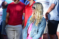Kelley Cahill watches her boyfriend Jon Rahm (ESP) putt on 6  during round 4 of the World Golf Championships, Dell Technologies Match Play, Austin Country Club, Austin, Texas, USA. 3/25/2017.<br /> Picture: Golffile | Ken Murray<br /> <br /> <br /> All photo usage must carry mandatory copyright credit (&copy; Golffile | Ken Murray)