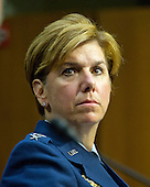 United States Air Force General Lori J. Robinson testifies before the US Senate Committee on Armed Services on her reappointment to the grade of General and to be Commander, United States Northern Command / Commander, North American Aerospace Defense Command on Capitol Hill in Washington, DC on Thursday, April 21, 2016.<br /> Credit: Ron Sachs / CNP