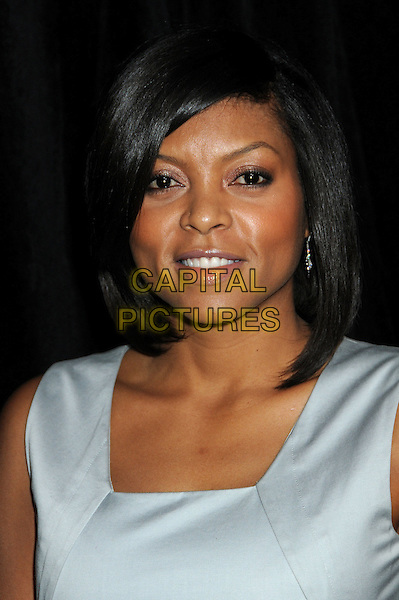 TARAJI P. HENSON.9th Annual Awards Season Diamond Fashion Show Preview Hosted By The Diamond Information Center and InStyle held at the Beverly Hills Hotel, Beverly Hills, California, USA,  .14th January 2010..portrait headshot sleeveless grey gray silver .CAP/ADM/BP.©Byron Purvis/Admedia/Capital Pictures