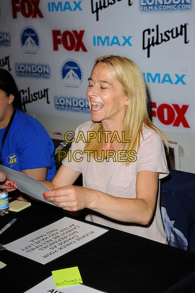 LONDON, ENGLAND - JULY 13: Kate Dickie attending London Film and Comic Con 2014 at Earls Court on July 13, 2014 in London, England.<br /> CAP/MAR<br /> &copy; Martin Harris/Capital Pictures