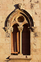 Window; The Cathedral; XII Century, Tarragona, Catalonia, Spain; finest example of transitional architecture, contrasting both Romanesque and Gothic aesthetics; Perched on the hilltop of the historical centre, it overlaps the site of a former Roman temple. Picture by Manuel Cohen