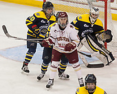 Meghan Martin (Merrimack - 10), Makenna Newkirk (BC - 19), Samantha Ridgewell (Merrimack - 34) - The number one seeded Boston College Eagles defeated the eight seeded Merrimack College Warriors 1-0 to sweep their Hockey East quarterfinal series on Friday, February 24, 2017, at Kelley Rink in Conte Forum in Chestnut Hill, Massachusetts.The number one seeded Boston College Eagles defeated the eight seeded Merrimack College Warriors 1-0 to sweep their Hockey East quarterfinal series on Friday, February 24, 2017, at Kelley Rink in Conte Forum in Chestnut Hill, Massachusetts.