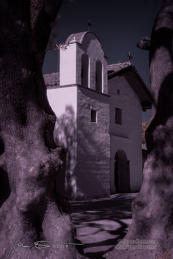 El Presidio de Santa Barbara (Infrared) ©2019 James D Peterson.  This military installation was the last military outpost built by Spain in the New World.  It is now a California state historical park, and has been extensively preserved and restored.
