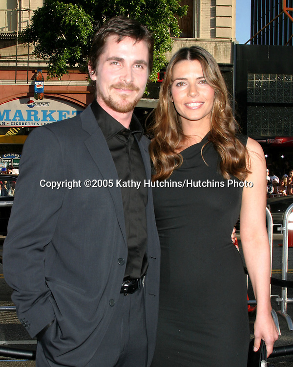 Christian Bale and Wife.Premiere of Batman Begins.Grauman's Chinese Theater.Los Angeles, CA.June 6, 2005.©2005 Kathy Hutchins / Hutchins Photo