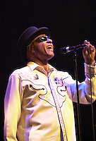 Pictured: Arthur Lee 20 March 2004<br /> Re: Love with Arthur Lee at the Brycheiniog Theatre in Brecon, Powys, Wales, UK