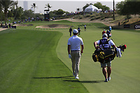 Bryson Dechambeau (USA) on the 3rd during Round 3 of the Omega Dubai Desert Classic, Emirates Golf Club, Dubai,  United Arab Emirates. 26/01/2019<br /> Picture: Golffile | Thos Caffrey<br /> <br /> <br /> All photo usage must carry mandatory copyright credit (© Golffile | Thos Caffrey)