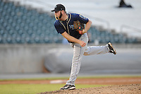 The Mobile BayBears pitcher Billy Spottiswood #41 delivers a pitch during  game four of the Southern League Championship Series between the Mobile Bay Bears and the Tennessee Smokies at Smokies Park on September 18, 2011 in Kodak, Tennessee.  The BayBears won the Southern League Championship 6-4.  (Tony Farlow/Four Seam Images)