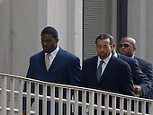 Richmond, VA - August 27, 2007 -- Michael Vick, left, arrives with his attorney, Billy Martin, right at the U.S. District Court in Richmond, Virginia where he will plead guilty on federal charges..Credit: Ron Sachs / CNP.(RESTRICTION: No New York Metro or other Newspapers within a 75 mile radius of New York City)