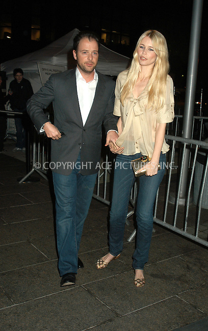 WWW.ACEPIXS.COM . . . . . ....NEW YORK, APRIL 22, 2005....Claudia Schiffer and Matthew Vaughn at the Tribeca Film Festival premiere of 'Layer Cake.'....Please byline: KRISTIN CALLAHAN - ACE PICTURES.. . . . . . ..Ace Pictures, Inc:  ..Craig Ashby (212) 243-8787..e-mail: picturedesk@acepixs.com..web: http://www.acepixs.com