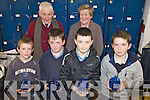 QUESTIONS: The Castledrum national school quiz team which took part in the Milltown Credit Union quiz at Presentation Secondary School in Milltown on Friday evening, front l-r: Sean Corcoran, Liam Clifford, Sean Langford, Anthony O'Shea. Back l-r: Gabriel Gallagher (Quizmaster), Mary O'Shea (Milltown Credit Union).