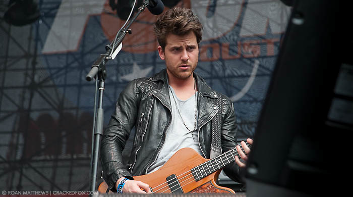 Jared Followill - bass for Kings of Leon at Discovery Green - Final Four Tour