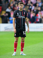 Lincoln City's Ellis Chapman during the pre-match warm-up<br /> <br /> Photographer Chris Vaughan/CameraSport<br /> <br /> The EFL Sky Bet League One - Lincoln City v Sunderland - Saturday 5th October 2019 - Sincil Bank - Lincoln<br /> <br /> World Copyright © 2019 CameraSport. All rights reserved. 43 Linden Ave. Countesthorpe. Leicester. England. LE8 5PG - Tel: +44 (0) 116 277 4147 - admin@camerasport.com - www.camerasport.com
