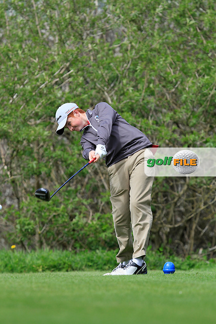 Ronan Mullarney (Galway) on the 15th tee during Day 1 of The Munster Youths' Amateur Open Championship in Dungarvan Golf Club on Wednesday 23nd April 2014.<br /> Picture:  Thos Caffrey / www.golffile.ie