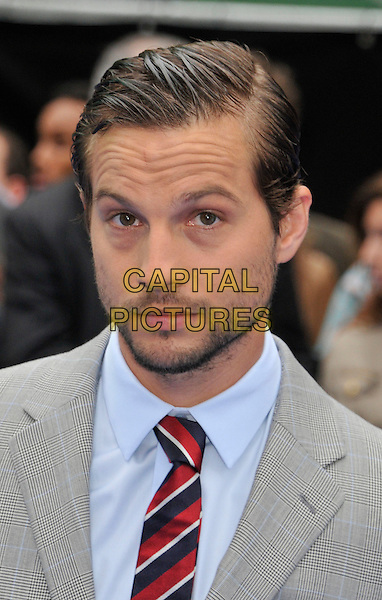 Logan Marshall-Green.The 'Prometheus' world film premiere, Empire cinema, Leicester Square, London, England..May 31st, 2012.headshot portrait blue red stubble grey gray tie suit facial hair .CAP/WIZ.© Wizard/Capital Pictures.
