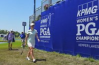 Beatriz Recari (ESP) departs 18 following round 2 of the 2018 KPMG Women's PGA Championship, Kemper Lakes Golf Club, at Kildeer, Illinois, USA. 6/29/2018.<br /> Picture: Golffile | Ken Murray<br /> <br /> All photo usage must carry mandatory copyright credit (© Golffile | Ken Murray)