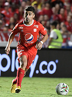 CALI - COLOMBIA, 28-11-2019: Matias Pisano del América en acción durante partido por la fecha 6, cuadrangulares semifinales, de la Liga Águila II 2019 entre América de Cali e Independiente Santa Fe jugado en el estadio Pascual Guerrero de la ciudad de Cali. / Matias Pisano of America in action during match for the date 6, quadrangular semifinals, as part of Aguila League II 2019 between America de Cali and Independiente Santa Fe played at Pascual Guerrero stadium in Cali. Photo: VizzorImage / Gabriel Aponte / Staff