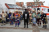 Büttelborn 03.03.2019: Rosensonntagsumzug<br /> Blasorchester als Vogelscheuchen<br /> Foto: Vollformat/Marc Schüler, Schäfergasse 5, 65428 R'eim, Fon 0151/11654988, Bankverbindung KSKGG BLZ. 50852553 , KTO. 16003352. Alle Honorare zzgl. 7% MwSt.