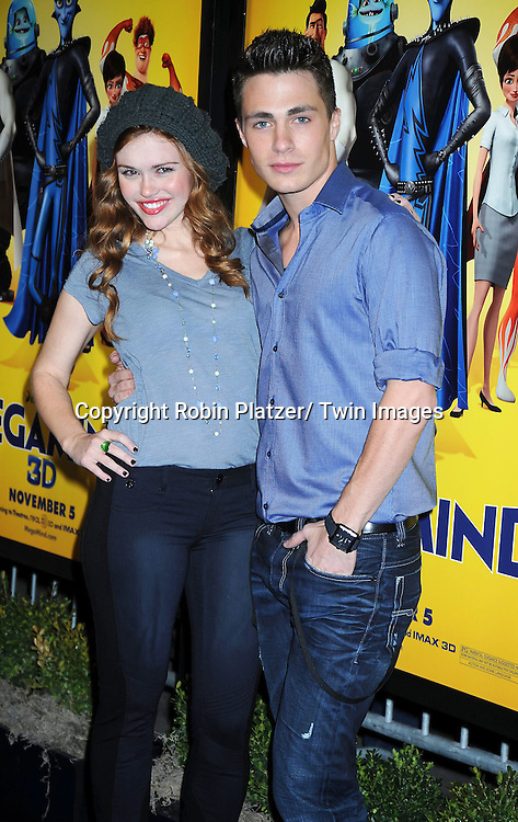 "actors Colton Haynes and Holland Roden, who will be on ""Teen Wolf"" in 2011 on MTV  at the New York Premiere of "" Megamind"" .on November 3, 2010 at the AMC Lincoln Square Theatre."