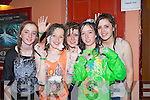 FOAM: Danceing the evening away at the teenagers Foam Disco in Kirbys Ballyheigue Summer Festival Tent, in conjuction with the Ballyheigue Summer Festival on Friday evening.L-r: Claire Murphy, Shauna Horgan, Emma O'Connell, Chloe Flaherty and Sinead Fealy............