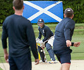 Cricket Scotland - Scotland train at Kent County cricket ground at Benkenham, ahead of two matches against Sri Lanka, on Sunday (tomorrow) and Tuesday - pic shows Craig Wallace in batting practice - picture by Donald MacLeod - 20.05.2017 - 07702 319 738 - clanmacleod@btinternet.com - www.donald-macleod.com