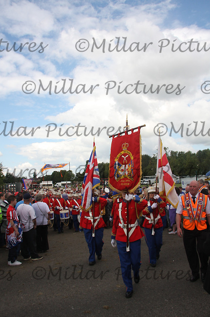 Blair Memorial Pride of Omagh Flute Band, Ulter in the County Grand Orange Lodge of Central Scotland Parade held in Bellshill on 9.7.11