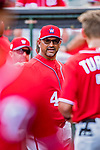24 February 2019: Washington Nationals Manager Dave Martinez in the dugout during a Spring Training game against the St. Louis Cardinals at Roger Dean Stadium in Jupiter, Florida. The Nationals defeated the Cardinals 12-2 in Grapefruit League play. Mandatory Credit: Ed Wolfstein Photo *** RAW (NEF) Image File Available ***