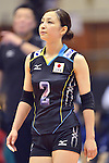 Arisa Sato (JPN),<br /> AUGUST 18, 2013 - Volleyball :<br /> 2013 FIVB World Grand Prix, Preliminary Round Week 3 Pool M match Japan 3-2 Czech Republic at Sendai Gymnasium in Sendai, Miyagi, Japan. (Photo by Ryu Makino/AFLO)