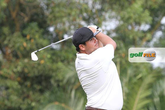 Joel Sjoholm (SWE) on the 4th on Day 2 of the Maybank Malaysian Open 2012 at Kuala Lumpur Golf and Country Club, Kuala Lumpur, Malaysia...(Photo Jenny Matthews/www.golffile.ie)