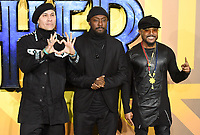 """Taboo, Will.i.am and Apl.de.ap (Black Eyed Peas)<br /> arriving for the """"Black Panther"""" premiere at the Hammersmith Apollo, London<br /> <br /> <br /> ©Ash Knotek  D3376  08/02/2018"""