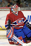 16 January 2007: Montreal Canadiens goaltender Cristobal Huet of France warms up prior to facing the Vancouver Canucks at the Bell Centre in Montreal, Canada. The Canucks defeated the Canadiens 4-0.Mandatory Credit: Ed Wolfstein Photo *** Editorial Sales through Icon Sports Media *** www.iconsportsmedia.com