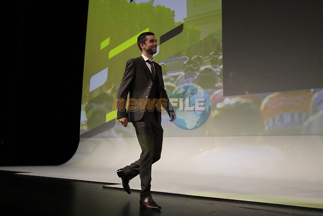 Tony Gallopin (FRA) introduced on stage at the Tour de France 2020 route presentation held in the Palais des Congrès de Paris (Porte Maillot), Paris, France. 15th October 2019.<br /> Picture: Eoin Clarke   Cyclefile<br /> <br /> All photos usage must carry mandatory copyright credit (© Cyclefile   Eoin Clarke)