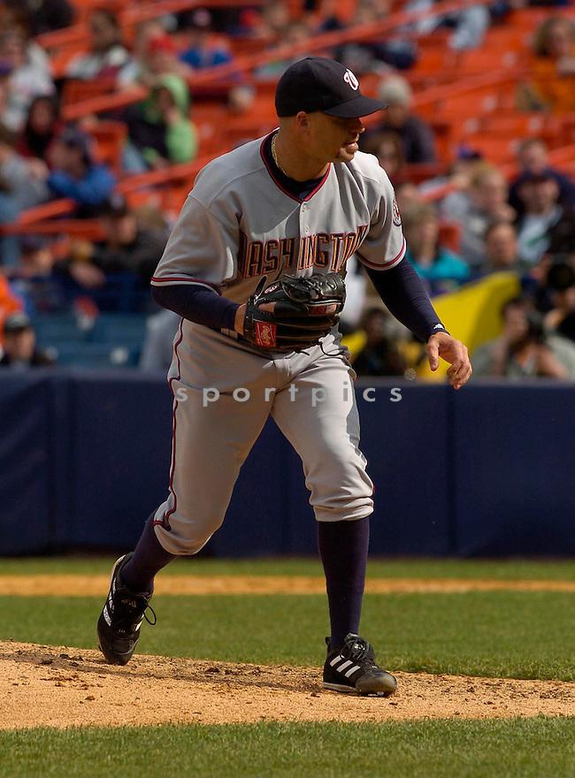 Joey Eischen in action during the Washington Nationals v. New York Mets game April 24, 2005.....Washington Nationals won 11-3.....David Durochik/ SportPics