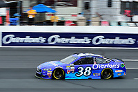 July 15, 2017 - Loudon, New Hampshire, U.S. - David Ragan, Monster Energy NASCAR Cup Series driver of the Overton's Ford (38), runs in the NASCAR Monster Energy Overton's 301 final practice round held at the New Hampshire Motor Speedway in Loudon, New Hampshire. Larson placed first in the qualifier. Eric Canha/CSM
