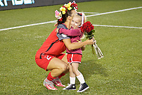 Portland, OR - Wednesday June 28, 2017: Hayley Raso, Edie Parsons during a regular season National Women's Soccer League (NWSL) match between the Portland Thorns FC and FC Kansas City at Providence Park.