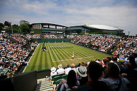 Wimbledon general view of court 3<br /> <br /> Photographer Rob Newell/CameraSport<br /> <br /> Wimbledon Lawn Tennis Championships - Day 3 - Wednesday 4th July 2018 -  All England Lawn Tennis and Croquet Club - Wimbledon - London - England<br /> <br /> World Copyright &not;&copy; 2017 CameraSport. All rights reserved. 43 Linden Ave. Countesthorpe. Leicester. England. LE8 5PG - Tel: +44 (0) 116 277 4147 - admin@camerasport.com - www.camerasport.com